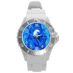 Alien Blue Plastic Sport Watch (large)