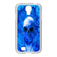 Alien Blue Samsung GALAXY S4 I9500/ I9505 Case (White)