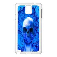 Alien Blue Samsung Galaxy Note 3 N9005 Case (white)