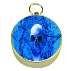 Alien Blue Gold Compass