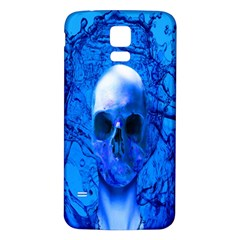 Alien Blue Samsung Galaxy S5 Back Case (White)