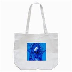 Alien Blue Tote Bag (White)