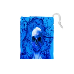 Alien Blue Drawstring Pouch (Small)