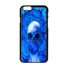 Alien Blue Apple iPhone 6 Black Enamel Case