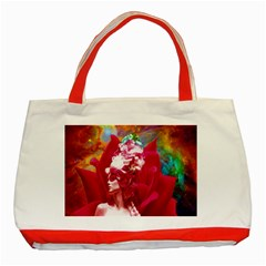 Star Flower Classic Tote Bag (Red)