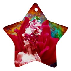 Star Flower Star Ornament (two Sides)