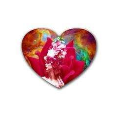 Star Flower Drink Coasters (Heart)
