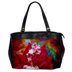 Star Flower Oversize Office Handbag (one Side)