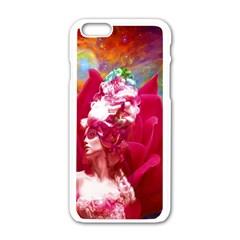 Star Flower Apple iPhone 6 White Enamel Case