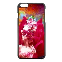 Star Flower Apple iPhone 6 Plus Black Enamel Case
