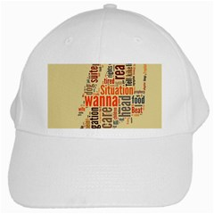 Michael Jackson Typography They Dont Care About Us White Baseball Cap