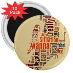 Michael Jackson Typography They Dont Care About Us 3  Button Magnet (10 pack)