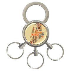 Michael Jackson Typography They Dont Care About Us 3 Ring Key Chain
