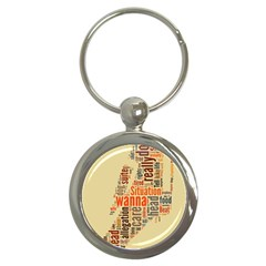 Michael Jackson Typography They Dont Care About Us Key Chain (round)