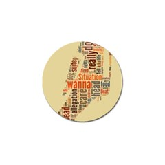 Michael Jackson Typography They Dont Care About Us Golf Ball Marker
