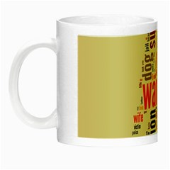 Michael Jackson Typography They Dont Care About Us Glow In The Dark Mug