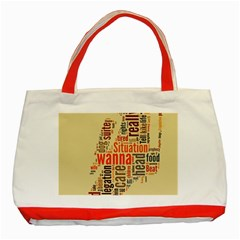 Michael Jackson Typography They Dont Care About Us Classic Tote Bag (Red)