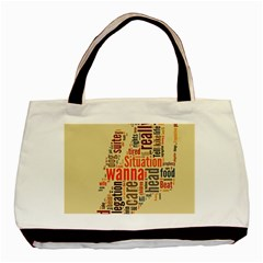Michael Jackson Typography They Dont Care About Us Twin Sided Black Tote Bag