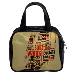 Michael Jackson Typography They Dont Care About Us Classic Handbag (two Sides)