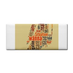 Michael Jackson Typography They Dont Care About Us Hand Towel