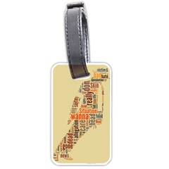 Michael Jackson Typography They Dont Care About Us Luggage Tag (one Side)