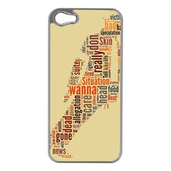 Michael Jackson Typography They Dont Care About Us Apple Iphone 5 Case (silver)