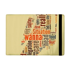 Michael Jackson Typography They Dont Care About Us Apple Ipad Mini Flip Case