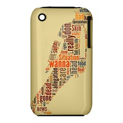 Michael Jackson Typography They Dont Care About Us Apple iPhone 3G/3GS Hardshell Case (PC+Silicone)