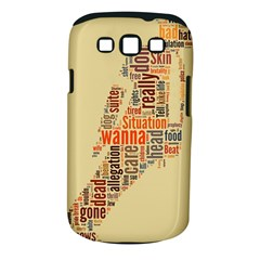Michael Jackson Typography They Dont Care About Us Samsung Galaxy S III Classic Hardshell Case (PC+Silicone)