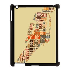 Michael Jackson Typography They Dont Care About Us Apple Ipad 3/4 Case (black)