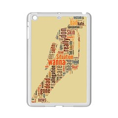 Michael Jackson Typography They Dont Care About Us Apple iPad Mini 2 Case (White)