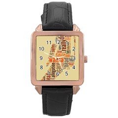 Michael Jackson Typography They Dont Care About Us Rose Gold Leather Watch