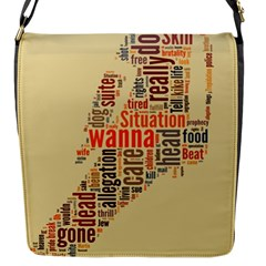 Michael Jackson Typography They Dont Care About Us Flap Closure Messenger Bag (small)