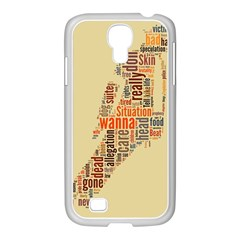 Michael Jackson Typography They Dont Care About Us Samsung GALAXY S4 I9500/ I9505 Case (White)