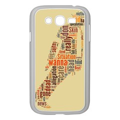 Michael Jackson Typography They Dont Care About Us Samsung Galaxy Grand DUOS I9082 Case (White)