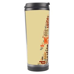 Michael Jackson Typography They Dont Care About Us Travel Tumbler