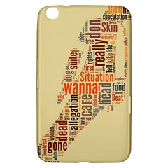 Michael Jackson Typography They Dont Care About Us Samsung Galaxy Tab 3 (8 ) T3100 Hardshell Case