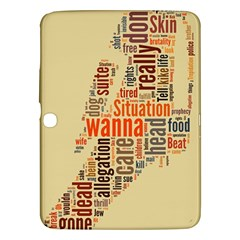 Michael Jackson Typography They Dont Care About Us Samsung Galaxy Tab 3 (10.1 ) P5200 Hardshell Case