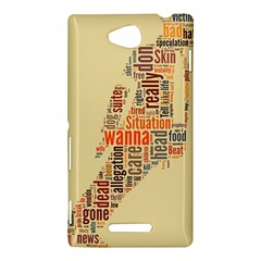 Michael Jackson Typography They Dont Care About Us Sony Xperia C (S39H) Hardshell Case