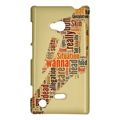 Michael Jackson Typography They Dont Care About Us Nokia Lumia 720 Hardshell Case