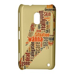 Michael Jackson Typography They Dont Care About Us Nokia Lumia 620 Hardshell Case
