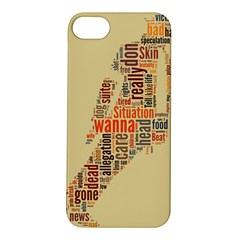 Michael Jackson Typography They Dont Care About Us Apple iPhone 5S Hardshell Case