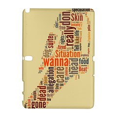 Michael Jackson Typography They Dont Care About Us Samsung Galaxy Note 10.1 (P600) Hardshell Case