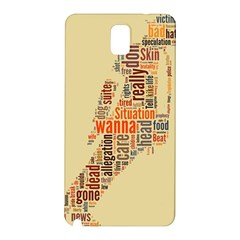 Michael Jackson Typography They Dont Care About Us Samsung Galaxy Note 3 N9005 Hardshell Back Case