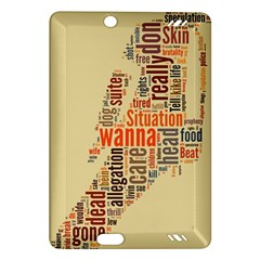 Michael Jackson Typography They Dont Care About Us Kindle Fire HD (2013) Hardshell Case