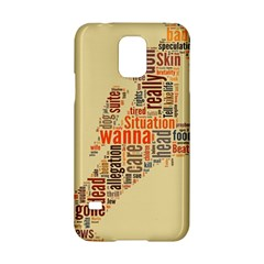 Michael Jackson Typography They Dont Care About Us Samsung Galaxy S5 Hardshell Case