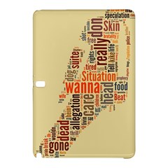 Michael Jackson Typography They Dont Care About Us Samsung Galaxy Tab Pro 10.1 Hardshell Case