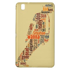 Michael Jackson Typography They Dont Care About Us Samsung Galaxy Tab Pro 8 4 Hardshell Case