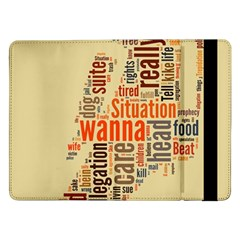 Michael Jackson Typography They Dont Care About Us Samsung Galaxy Tab Pro 12.2  Flip Case