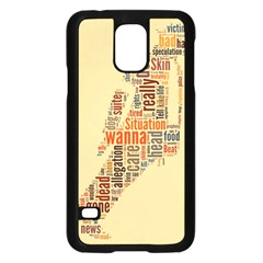 Michael Jackson Typography They Dont Care About Us Samsung Galaxy S5 Case (Black)